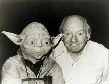 """The creator of Yoda: """"I made Yoda's face based on mine, but with more wrinkles to look wiser"""" :)Face Based, Makeup Artists, Movie Makeup, Stuart Freeborn, Star Wars, Stars Wars, Yoda Face, Starwars, Creator"""