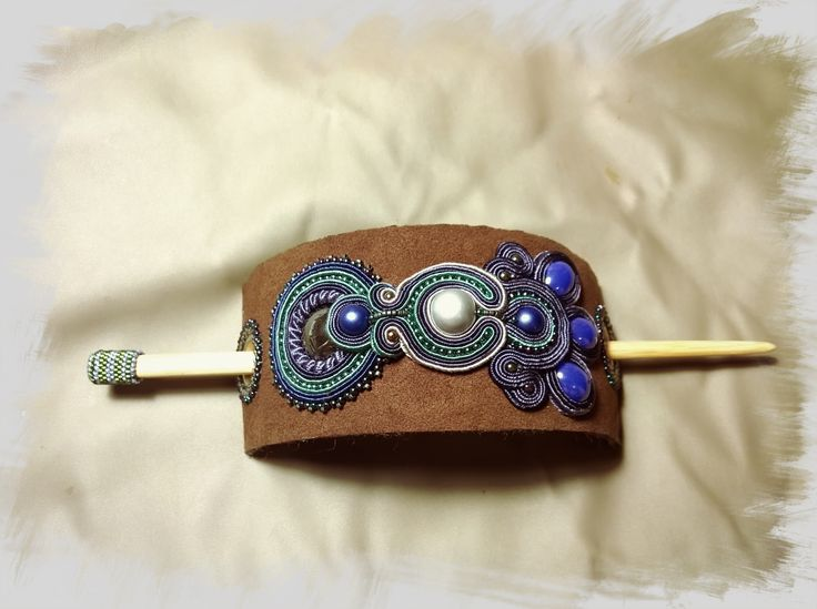 Soutache hair accessories. Emi La jewelry