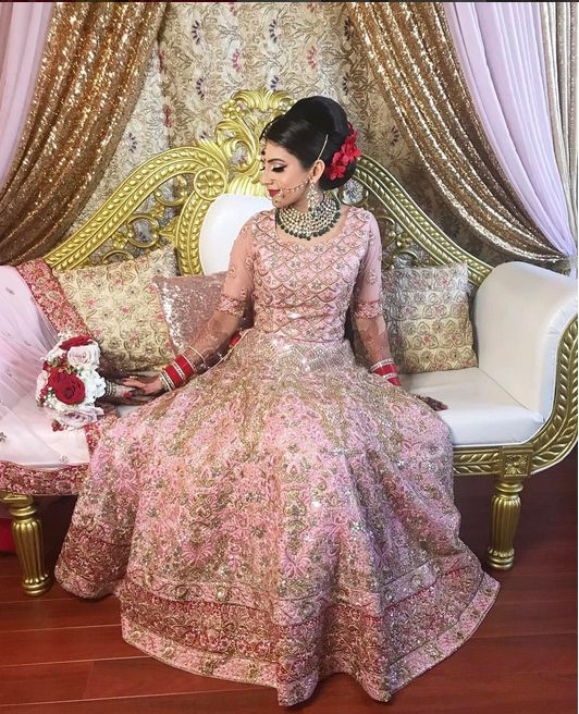 Our flawless bride in a custom lengha for her special day. Thank you for sharing