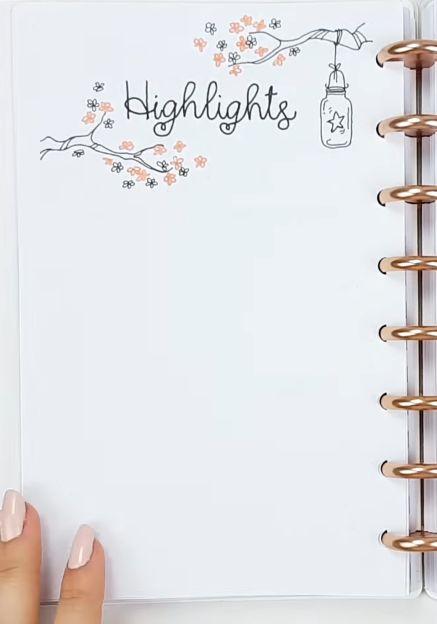 Kreative Höhepunkte: Monatliche Höhepunkte im Bullet Journal. Ideen für Bujo-Seiten. Planer Inspiration #bujoinspire #bulletjournallove