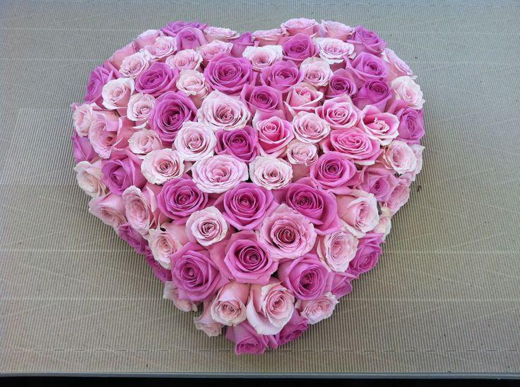 Rose love heart arrangement