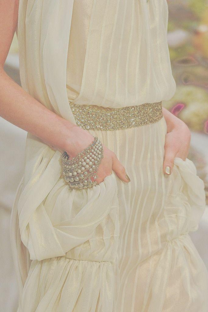 Chanel Pre-Fall 2012: Fashion, Style, Dresses, Wedding Dress, Gold, Chanel Pre Fall, Cream, Haute Couture