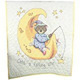 Fairway Needlecraft 92615 Baby Quilt, Sleeping Animals Design, 36 by 50-Inch, White *** Check out the image by visiting the link.