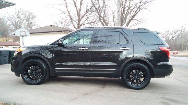 "2014 Ford Escape Tires >> 2015 Ford Explorer Black Status Toro 20"" Wheels | 2015 Ford Explorer Limited | Pinterest | Ford ..."