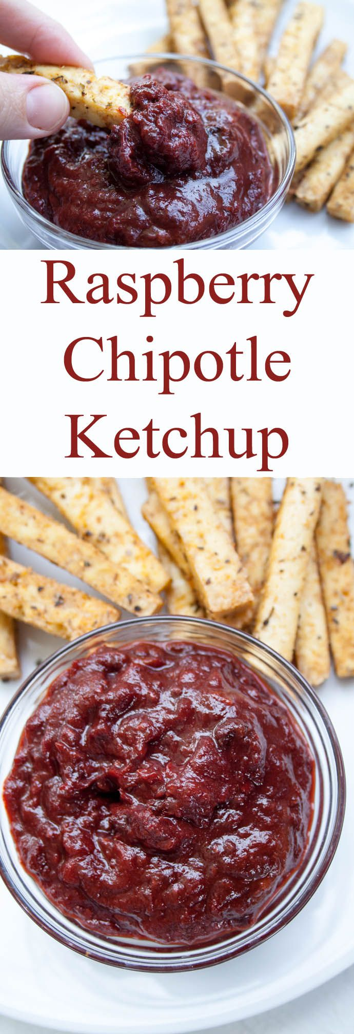 Raspberry Chipotle Ketchup (vegan, gluten free) - Thisketchup is smoky, spicy, and a little tart. It is thick and chunky - perfect for a veggie burger or fries.