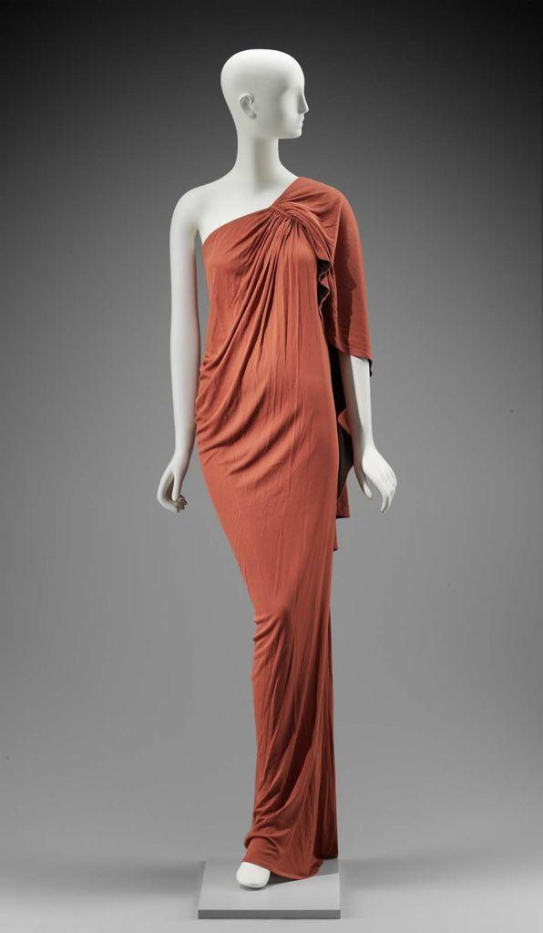 1977, England - Woman's dress by Gnyuki Torimaru - Synthetic knit (jersey)