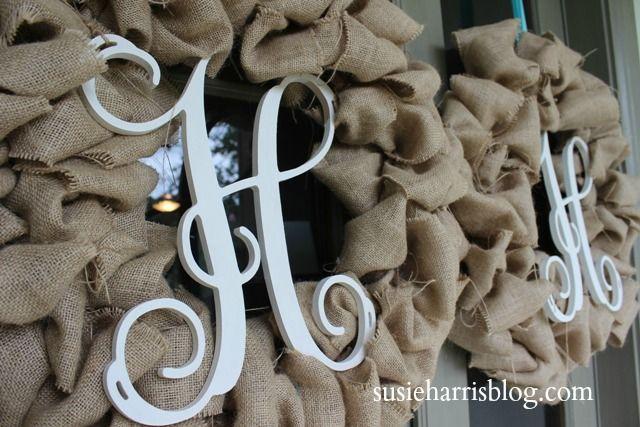 Susie Harris: Burlap wreath DIY | Upcycled Mafia | Pinterest