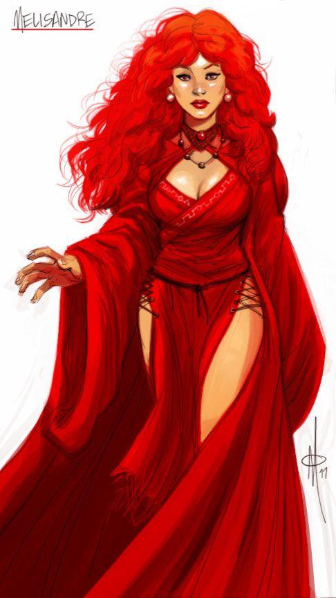 The Red Priestess Melisandre by ~mattolsonart on deviantART