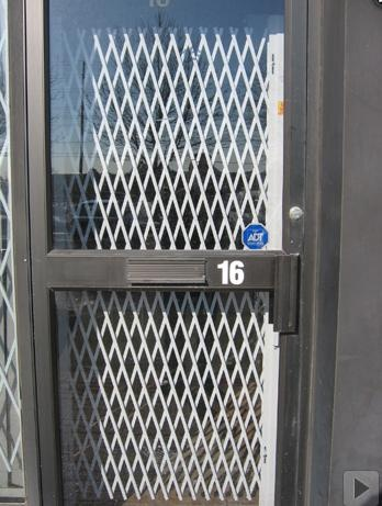 security gates folded away when not in use