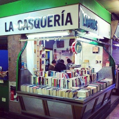 Bookstore inMercado de San Fernando, Madrid