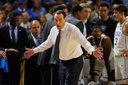 GREENVILLE, SC - MARCH 19: Head coach Mike Krzyzewski of the Duke Blue Devils reacts in the second half against the South Carolina Gamecocks during the second round of the 2017 NCAA Men's Basketball Tournament at Bon Secours Wellness Arena on March 19, 2017 in Greenville, South Carolina. (Photo by Kevin C. Cox/Getty Images)