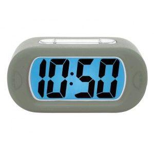 Karlsson Gummy Alarm Clock LED Grey