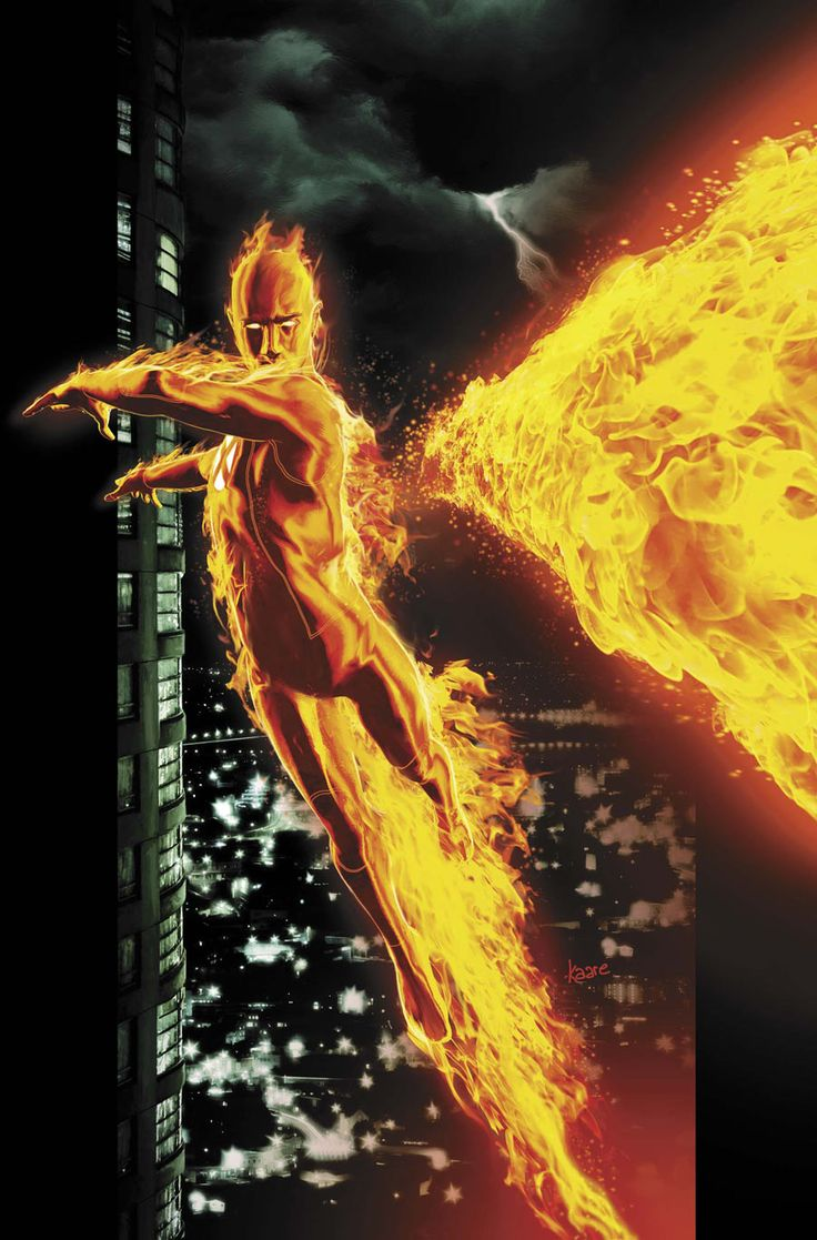 Human Torch by Kaare Andrews #XMen #Ultimates