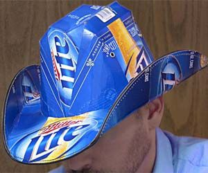 Beer Box Cowboy Hat....this may be the most redneck thing ive ever needed in my possession