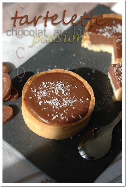 les petits plats de trinidad: Tartelette au chocolat au lait et passion sur lit ...