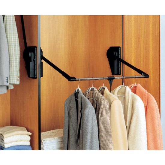 This is a Traditional Garment Lift by Peter Meier. It is an excellent space saving clothing rack which has a capacity of up to 33 lbs.