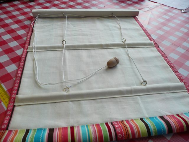 easy way to make a roman blind