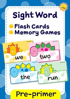 =====================================================NEW PRODUCT! On sale for 2 days only!=====================================================Teaching pre-primer level sight words with flash cards. Reward your students with sticker or stamp when s/he can read a word.You can also use this flash cards for playing a memory game, by print them twice.This flash card set contains:~ 40 sight word cards, based on Dolch word list. ~ 1 sheet of stamp/sticker chart.