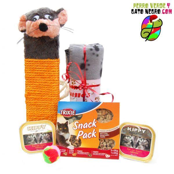Cesta de regalos navideños para gatos.  ¡Regalos para todos!  http://perroverdeygatonegro.com/regalos-navidad-perro-y-gato/106-regalo-navideno-para-tu-amigo-gato.html