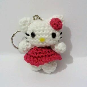 Hello Kitty Kimono Amigurumi Patron : Lo Que Me Sale Del Fieltro: Patron Llavero Hello Kitty ...