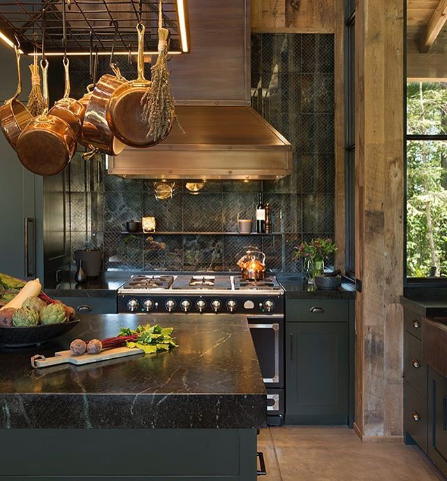 wood copper kitchen accent design | Warm and inviting......copper accents and wood | Home ...