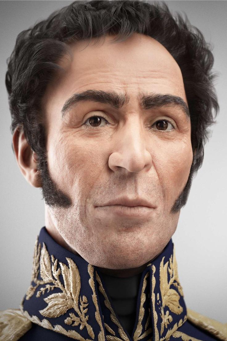 Simon Bolivar - Esta es la imagen del rostro del libertador que se logro tras la reconstrucción de sus restos exhumados.
