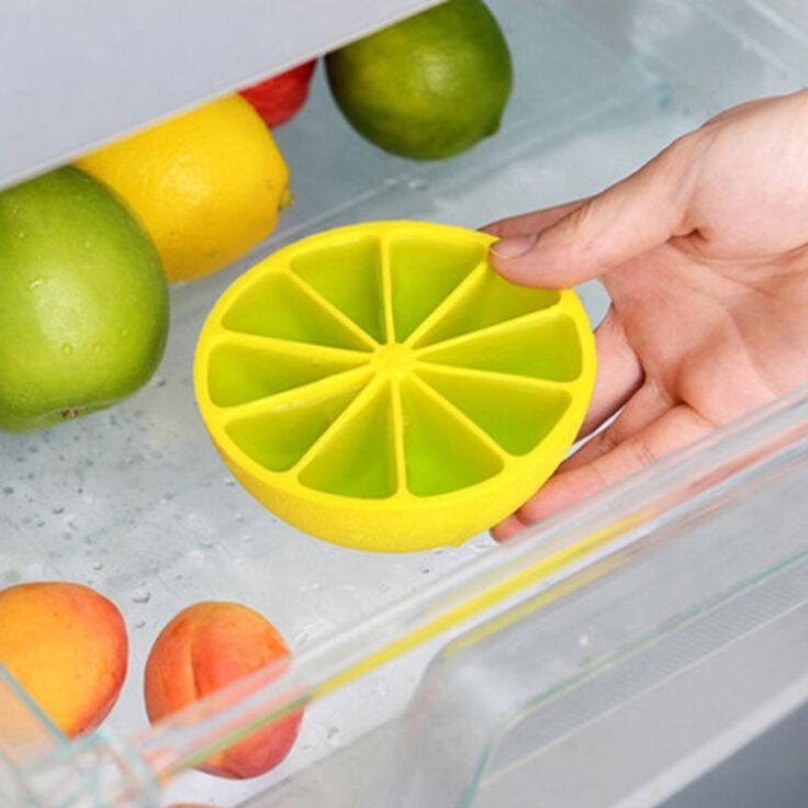 New DIY Ice Cube Mold 10 Grid Lemon Shaped Ice Cream Tray Maker Mould Kitchen Accessories 2 Colors