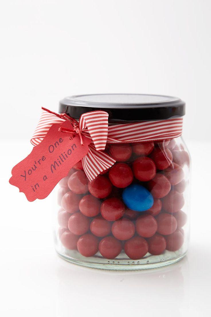 Valentines Day DIY - lolly jar