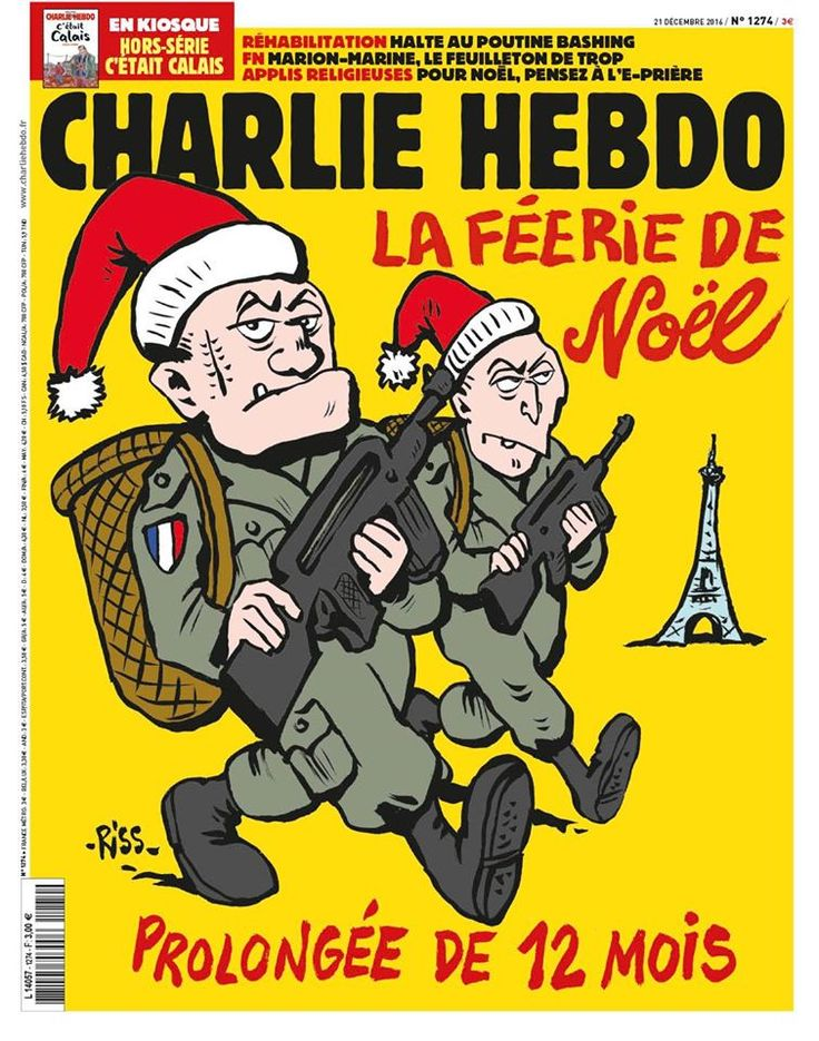 Charlie Hebdo - # 1274 - Mercredi 21 Décembre 2016 - Couverture : Riss