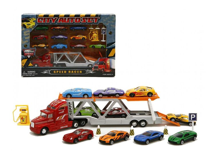 camin de coches de juguete juegos divertidos para nios stock didactic