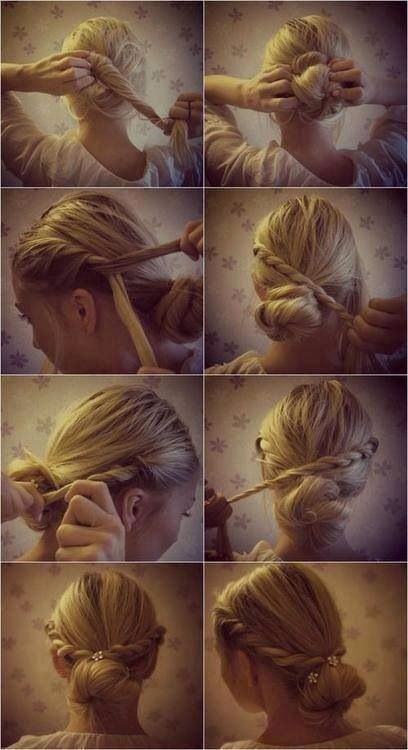 A lovely hairstyle for an evening along the riverside...