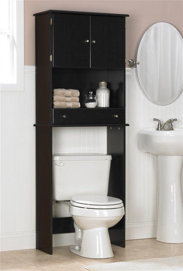 Above Toilet Cabinet For The Bathroom Black Bathroom Storage