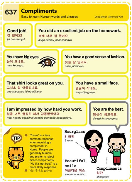 Easy to Learn Korean - Compliments
