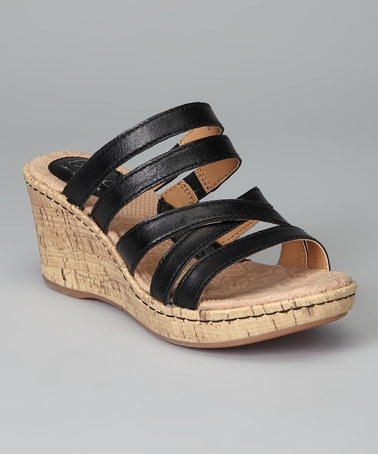 Take a look at this Black Sorah Wedge Slide by b.o.c. by Born on @zulily today!