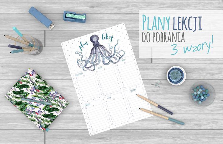 Printable lessons plans // Plany lekcji do wydrukowania - 3 wzory