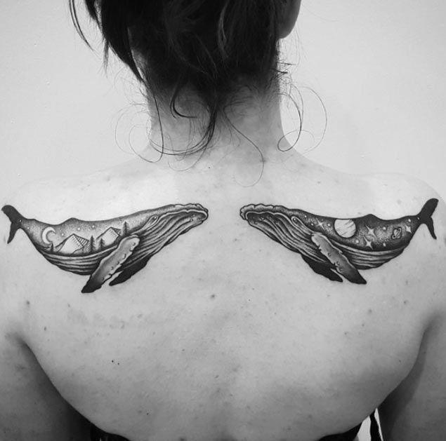 Whale Tattoos by Ben Doukakis