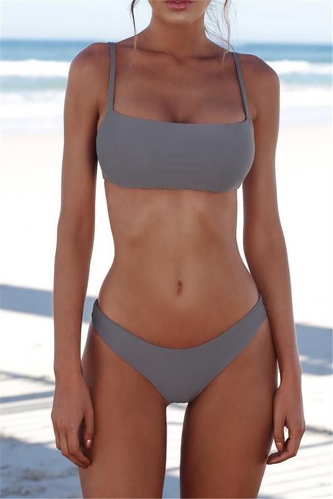 Chicnico Simple Plain Pure Bikini Set – Abnehmen – #abnehmen #Bikini #Chicnico #…