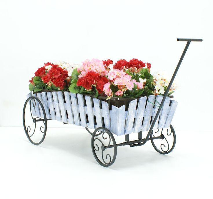 Подставка под цветы тележка