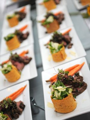 Instead of a quick, three-course menu of salad, entree and dessert, stretch out dinner over four or five smaller courses. Then, plan small surprises in between, like a short toast from your hilarious aunt or a professional dance performance. It'll give your guests the experience of a fun night out on the town, complete with dinner and a show