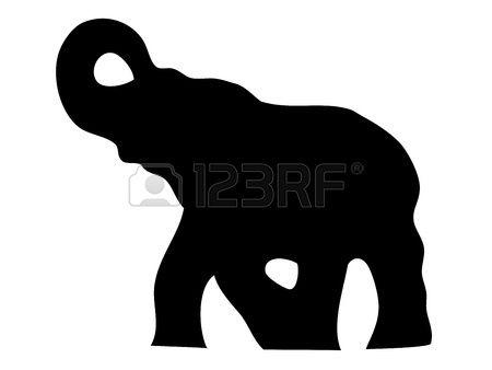 Elephant silhouette Stock Vector