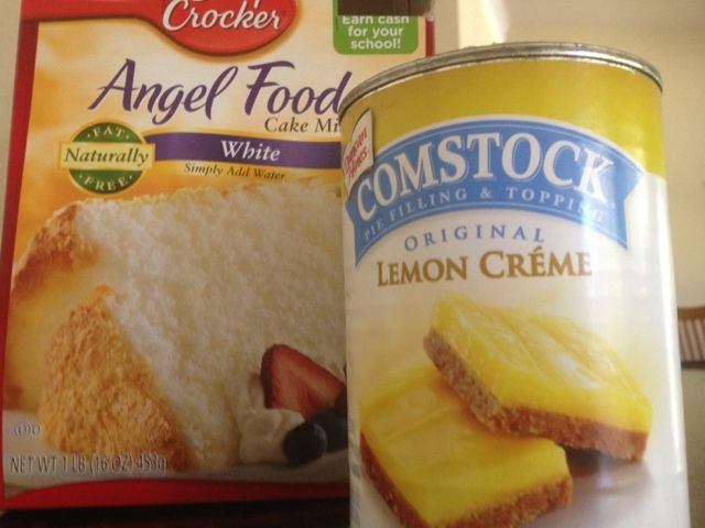 Lemon Sponge Cake/Bars... Only 2 ingredients and Low fat!!!