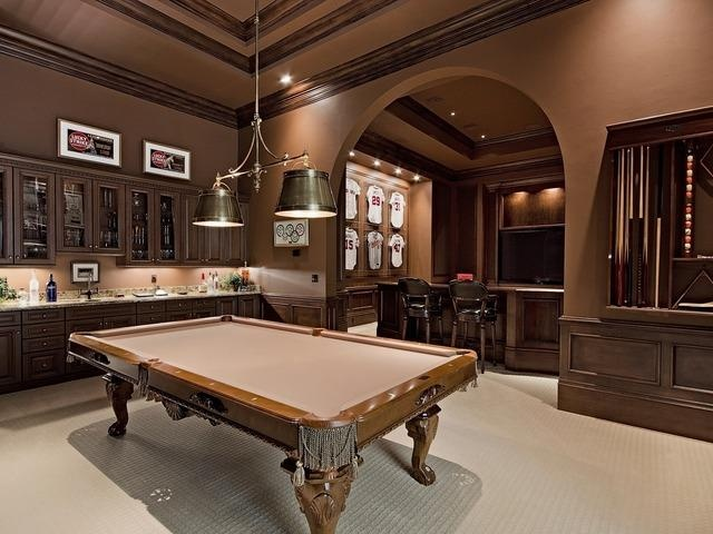 Beautiful billiards room