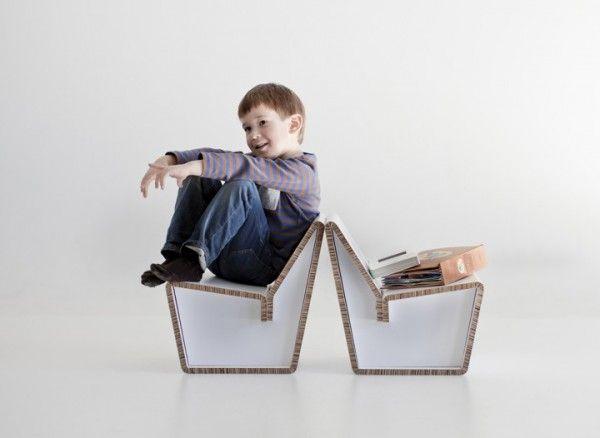 Kenno: Ecológica silla de cartón para niños