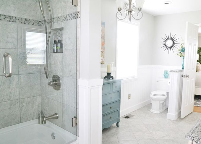 House of turquoise turquoise and gray gray and for Gray and turquoise bathroom
