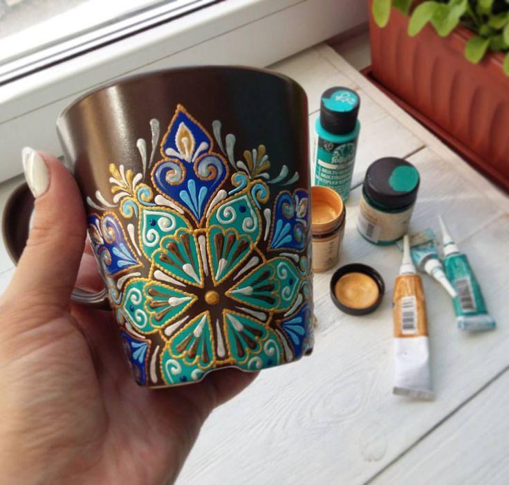 """3,368 Me gusta, 42 comentarios - Декоративные тарелки (@a.nureeva) en Instagram: """"Эксперимент 😊 В студенческие времена и после я расписывала стеклянные кружки, бокалы, свадебные…"""""""