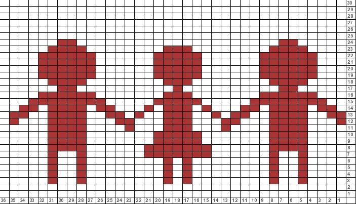Tricksy Knitter Charts: two boys and a girl (shorter)
