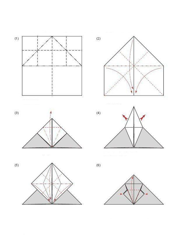 bastelanleitung origami fledermaus falten dekoking com. Black Bedroom Furniture Sets. Home Design Ideas