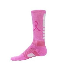 #5: Red Lion Ribbon Legend Crew Breast Cancer Awareness Socks (available in 3 colors)