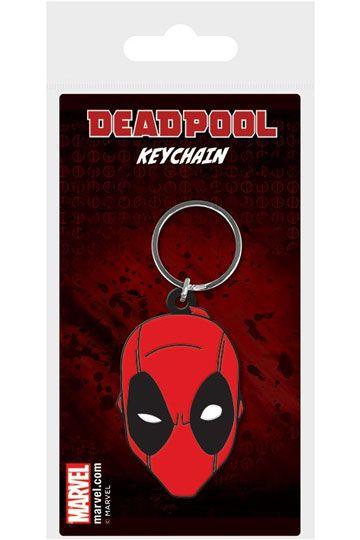 Kľúčenka Deadpool Face Rubber Keychain 6 cm