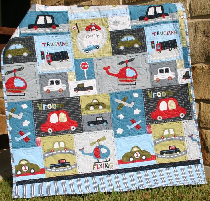 Car Quilt Baby Boy Toddler Bedding Vehicles Trucks Cars